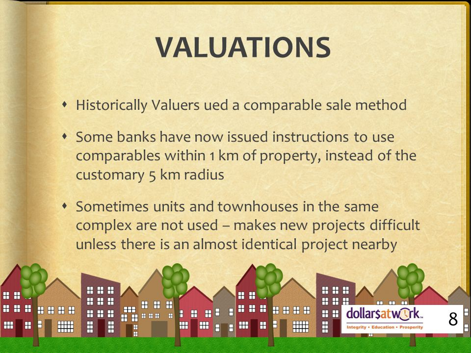 REASONS FOR LOW VALUATIONS  SCARCITY: often has a premium attached to it because of its unique features – hard to value – no comparisons  SUBJECTIVITY: no two properties are identical – no quantitative means for a Valuer to remain neutral/unbiased  TIMEFRAME: historic data is past tense focused RPD Data takes three months for new sale to register 9
