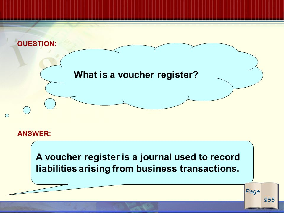 What is a voucher register.