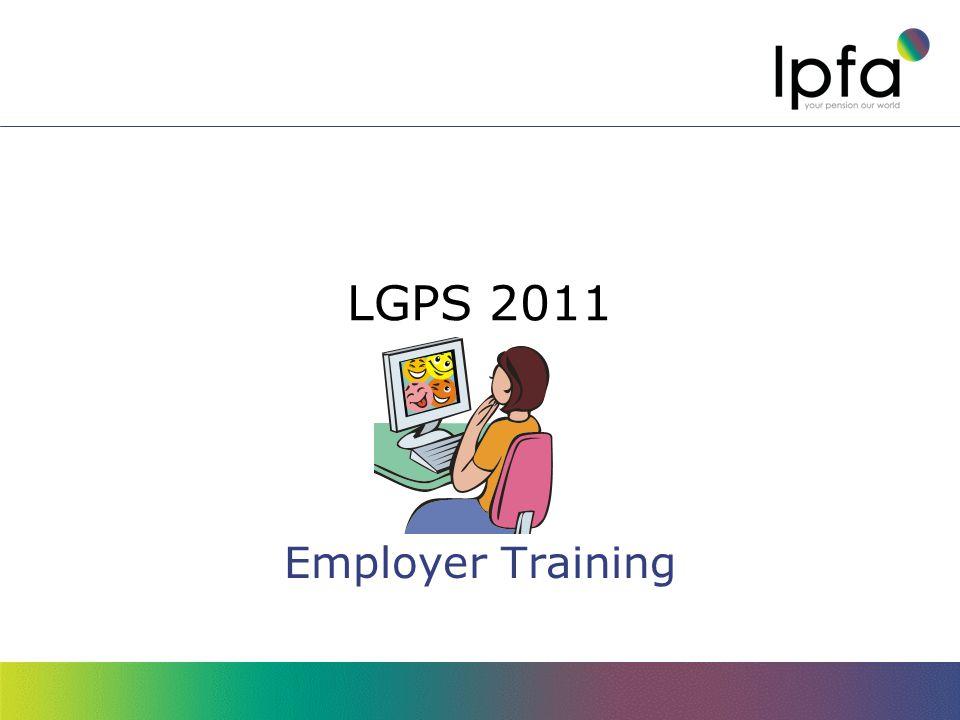 LGPS 2011 Employer Training