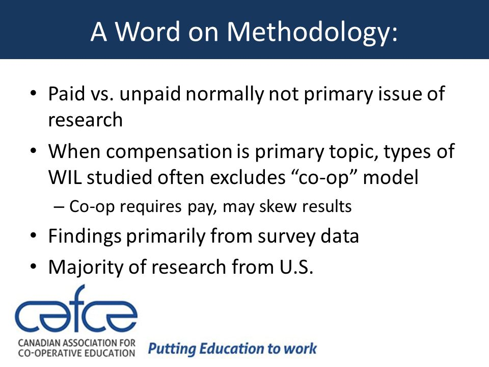 A Word on Methodology: Paid vs.