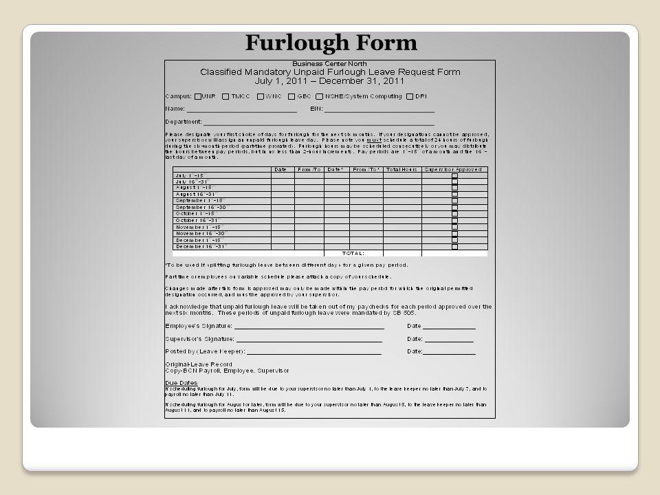 Furlough Form