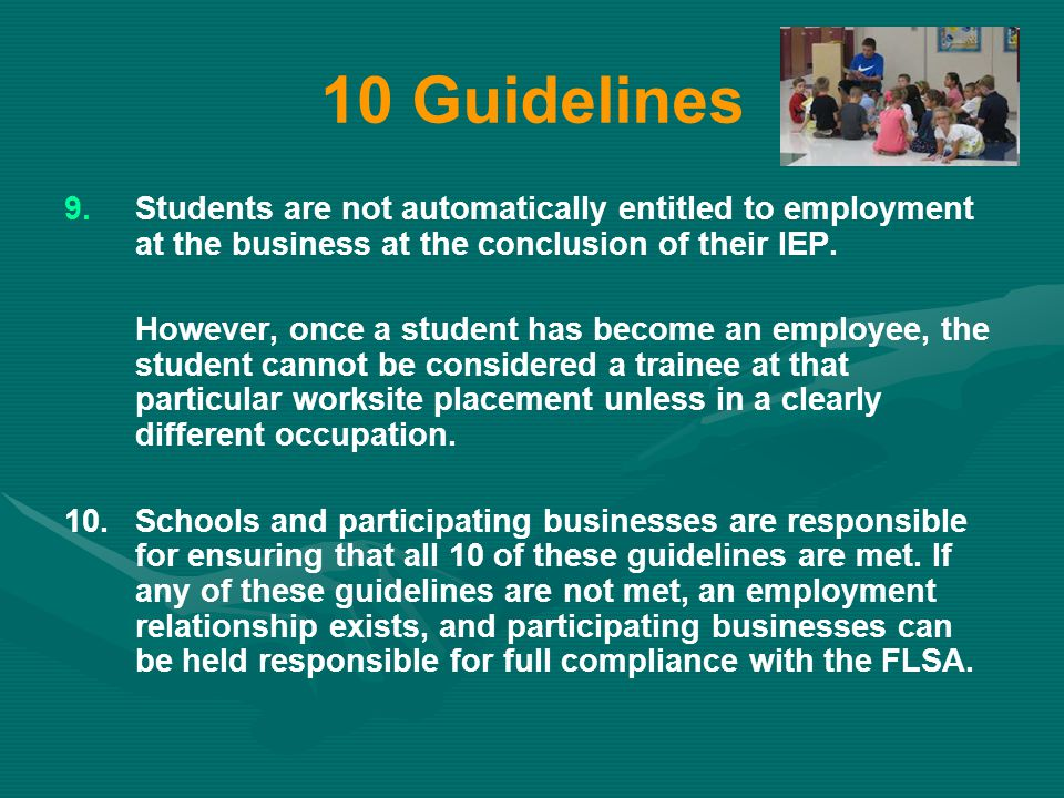 10 Guidelines 9.