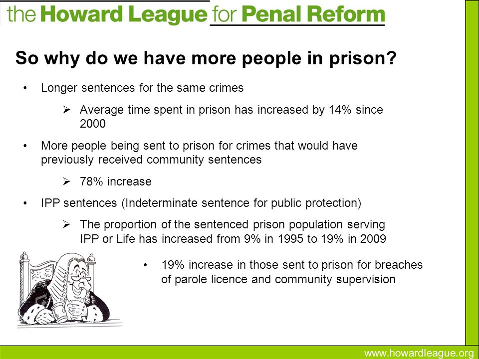 So why do we have more people in prison.