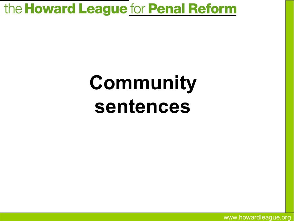What is a community sentence.