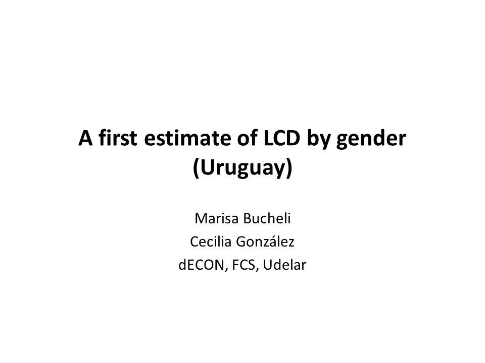 A first estimate of LCD by gender (Uruguay) Marisa Bucheli Cecilia González dECON, FCS, Udelar