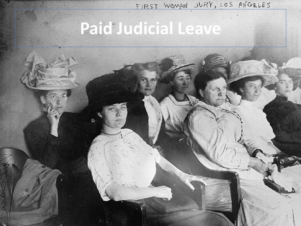 Paid Judicial Leave