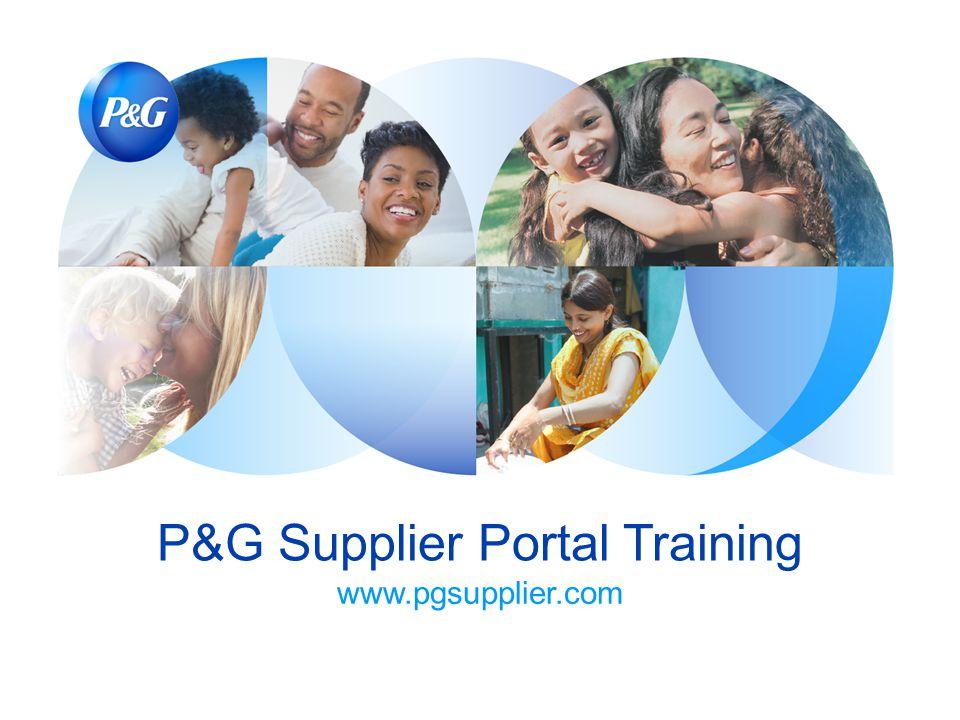 P&G Supplier Portal Training www.pgsupplier.com