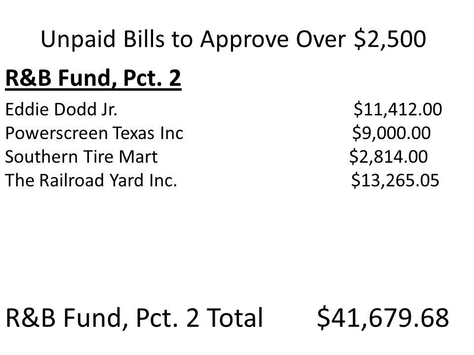 R&B Fund, Pct. 2 Eddie Dodd Jr.