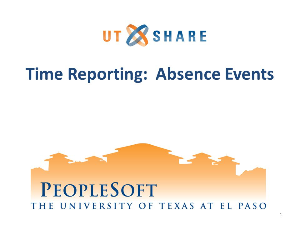 Time Reporting: Absence Events 1