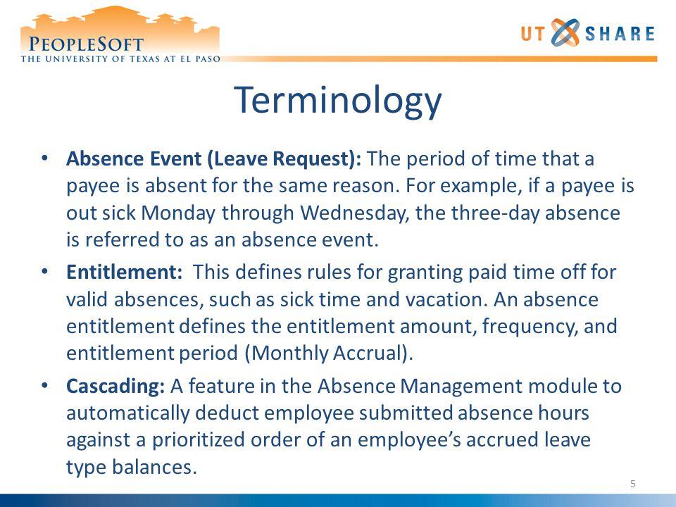 7.Enter the corresponding absence event information.