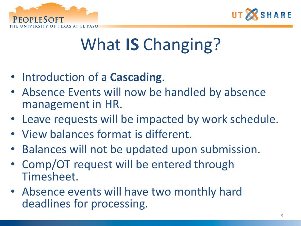 What IS Changing. Introduction of a Cascading.