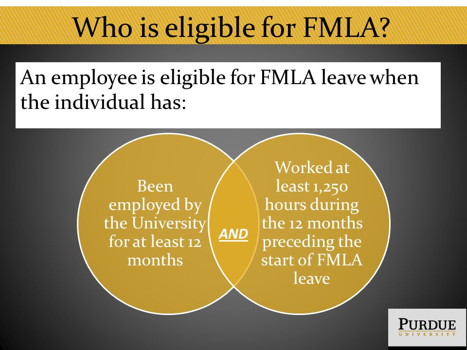 Who is eligible for FMLA.