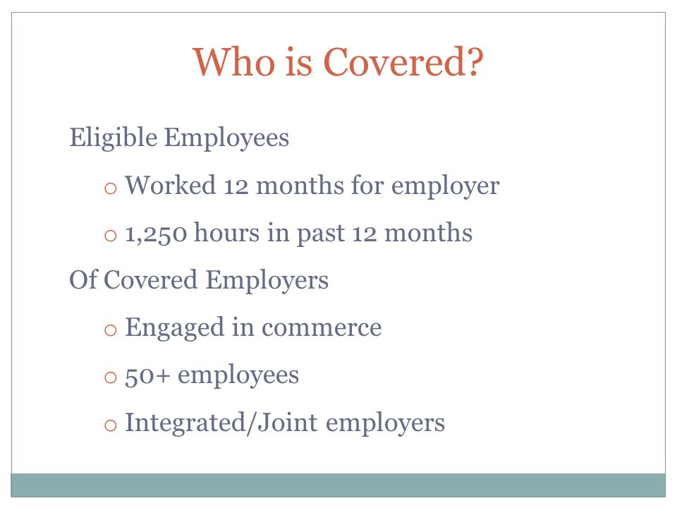 Who is Covered.