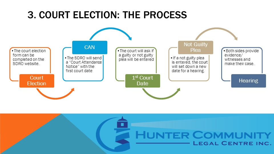 3. COURT ELECTION: THE PROCESS The court election form can be completed on the SDRO website.
