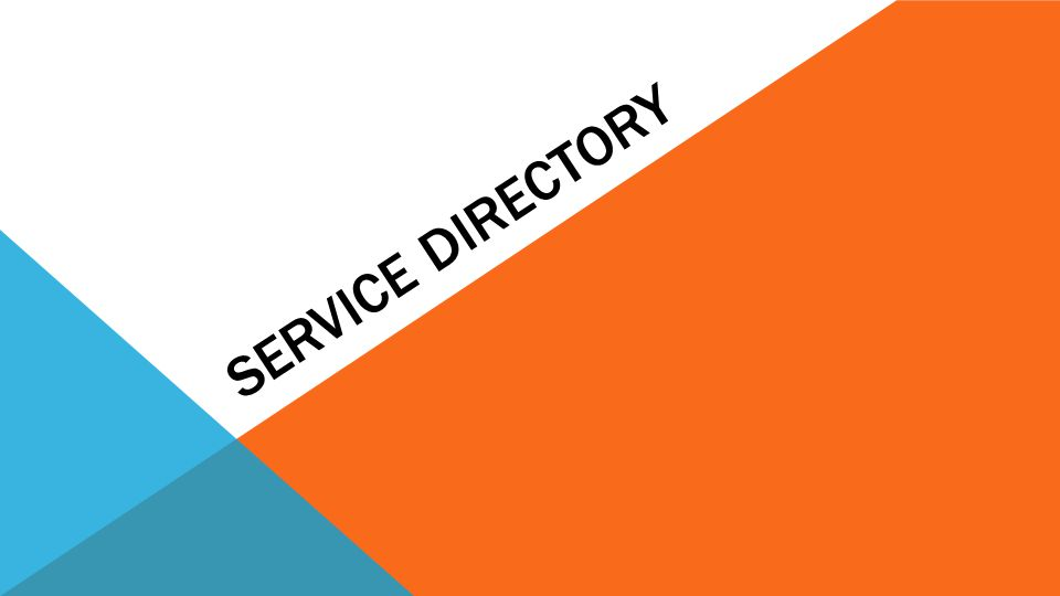 SERVICE DIRECTORY