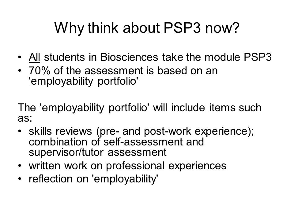 Why think about PSP3 now.