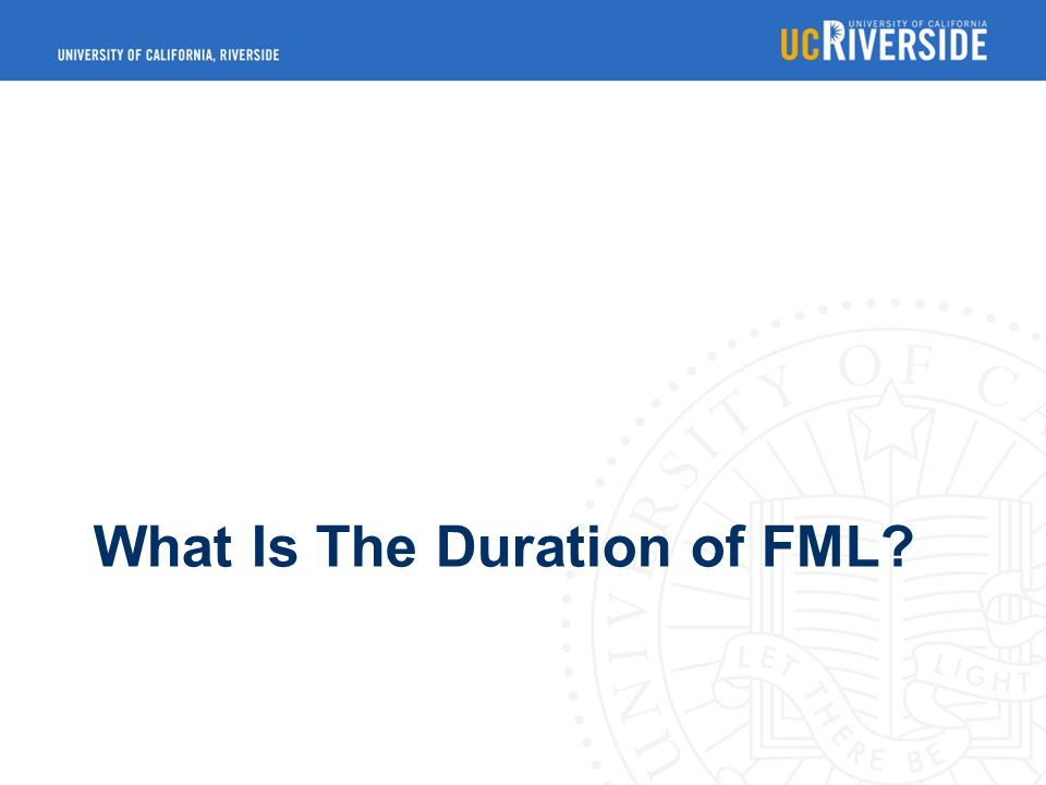 What Is The Duration of FML
