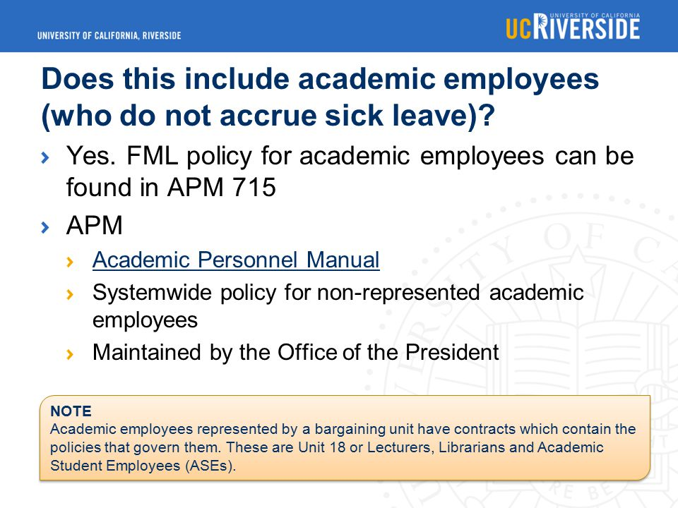 Does this include academic employees (who do not accrue sick leave).