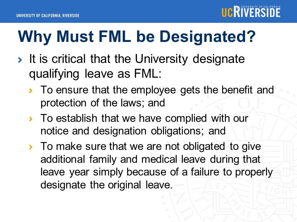 Why Must FML be Designated.