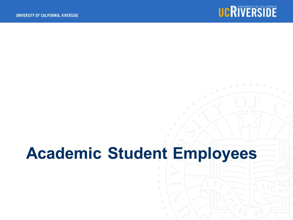 Academic Student Employees