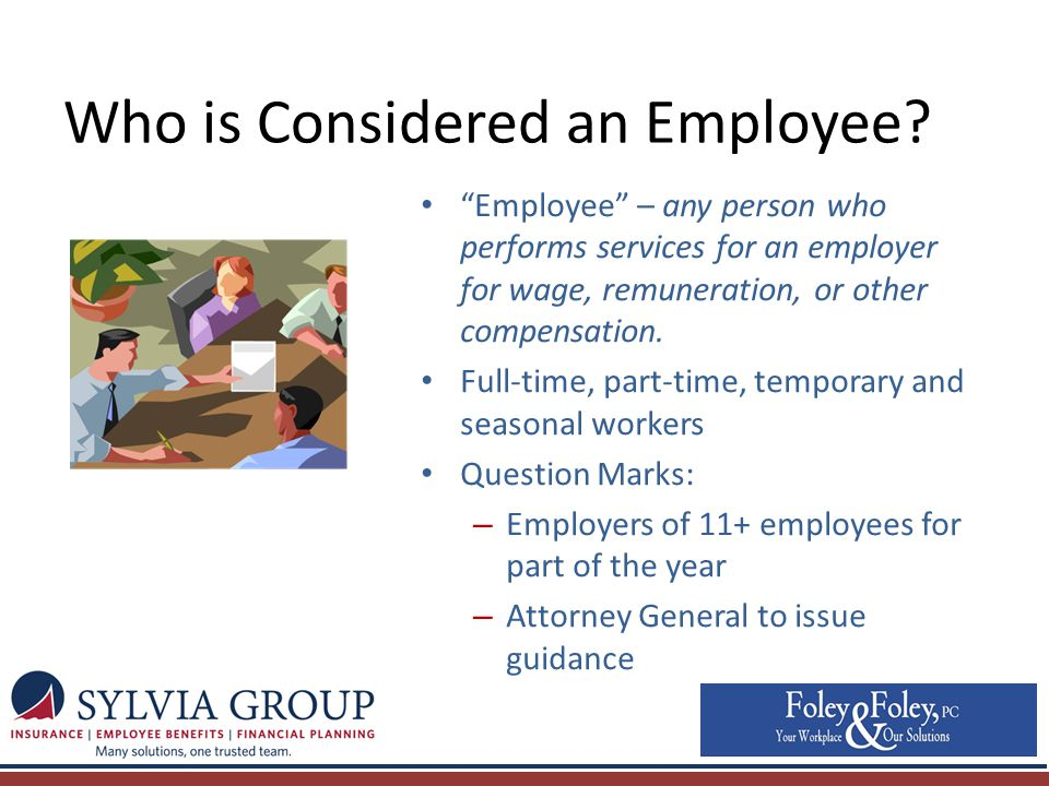 Who is Considered an Employee.