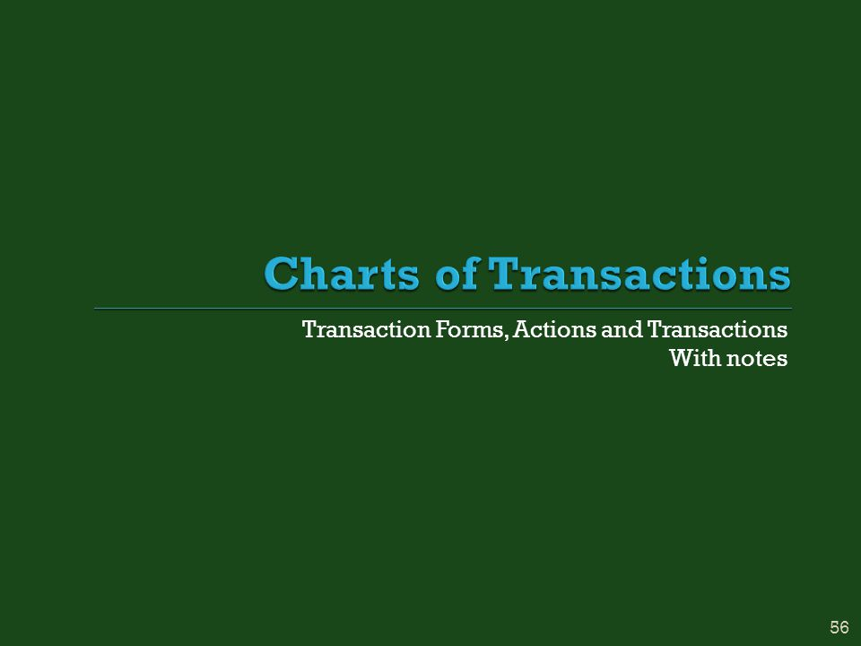 Transaction Forms, Actions and Transactions With notes 56