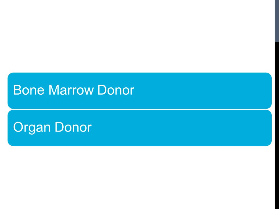 Bone Marrow DonorOrgan Donor