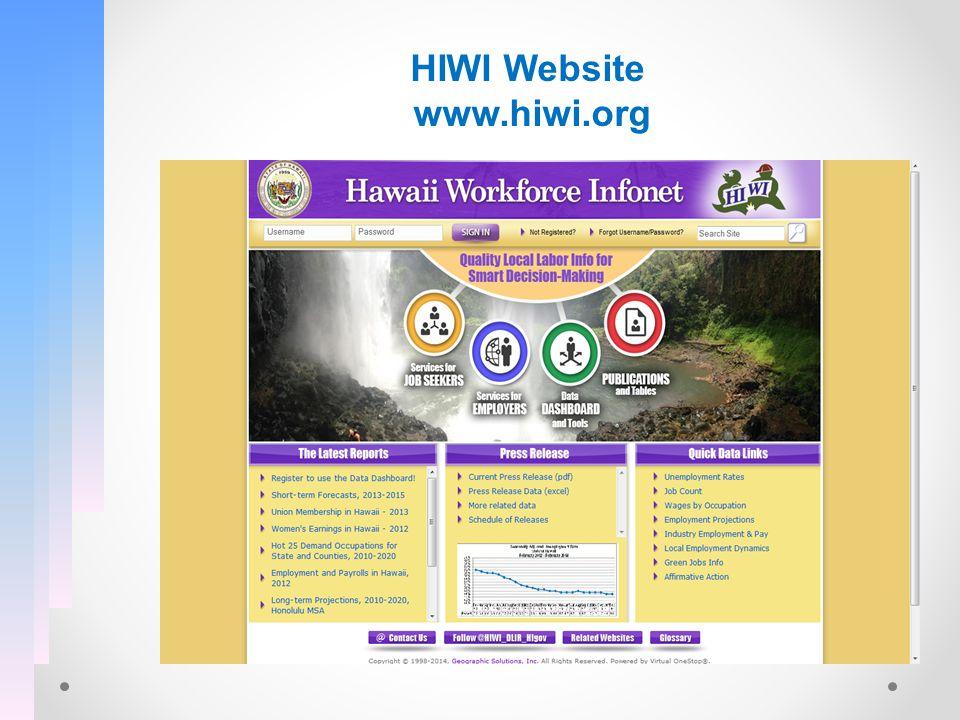 HIWI Website www.hiwi.org