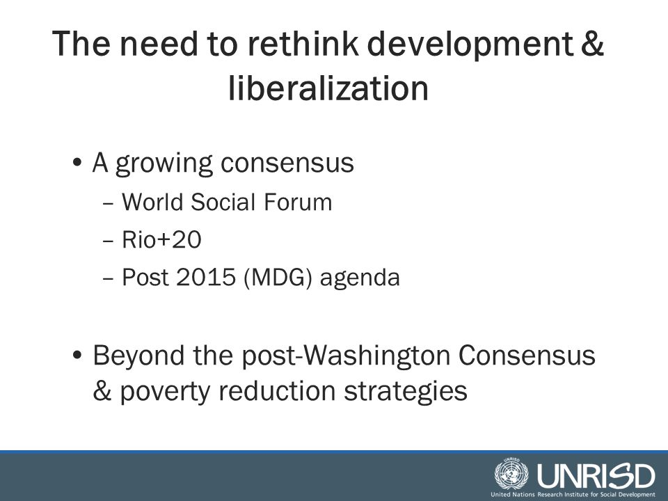 The 21 st century development problem –Informalization, underemployment & indecent work –Rising inequalities –Women's double burden (paid and unpaid work) –Environmental costs of industrialization, high-input agriculture & consumption patterns –Climate change –Recurring crises (finance, food, fuel) & heightened risk