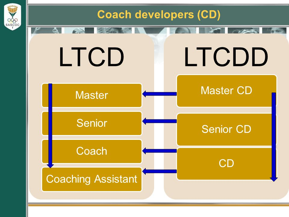 Coach developers (CD) LTCD MasterSeniorCoachCoaching Assistant LTCDD Master CD Senior CDCD
