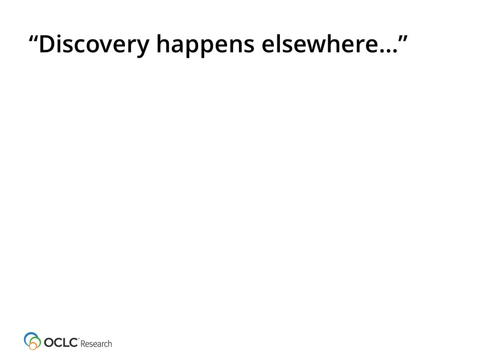 Discovery happens elsewhere…