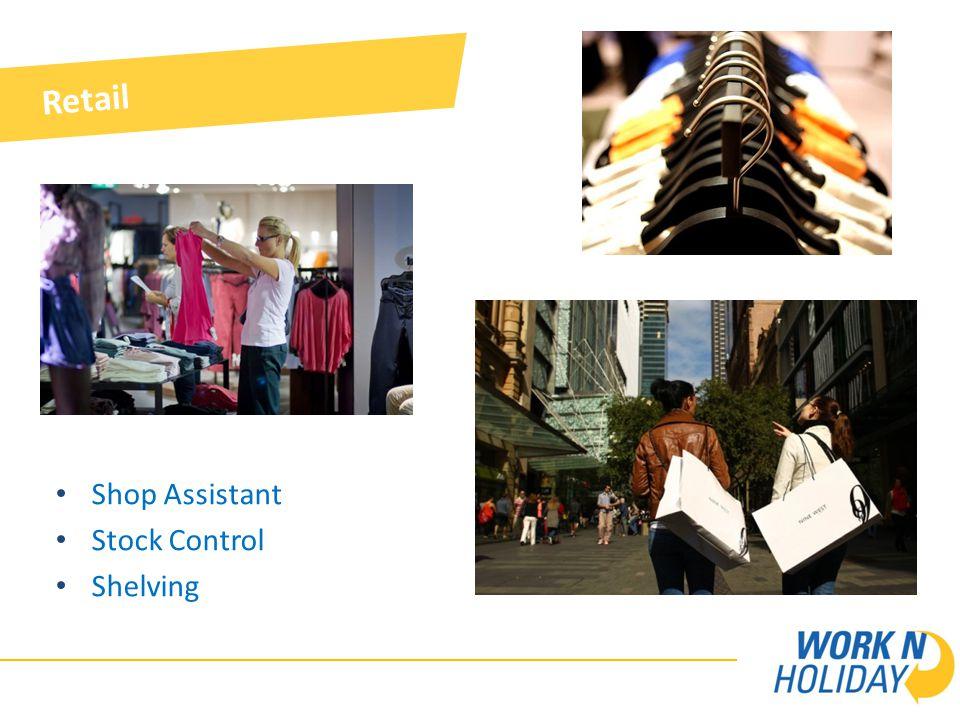 Retail Shop Assistant Stock Control Shelving