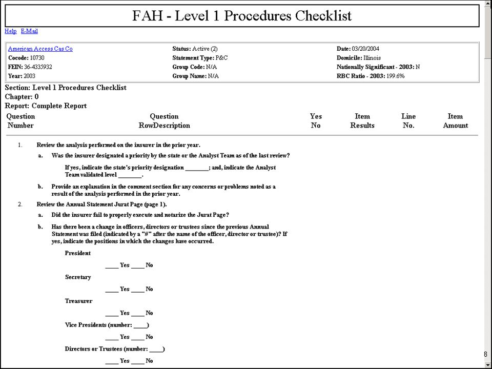 © 2012 The National Association of Insurance Commissioners What is a Financial Examination.