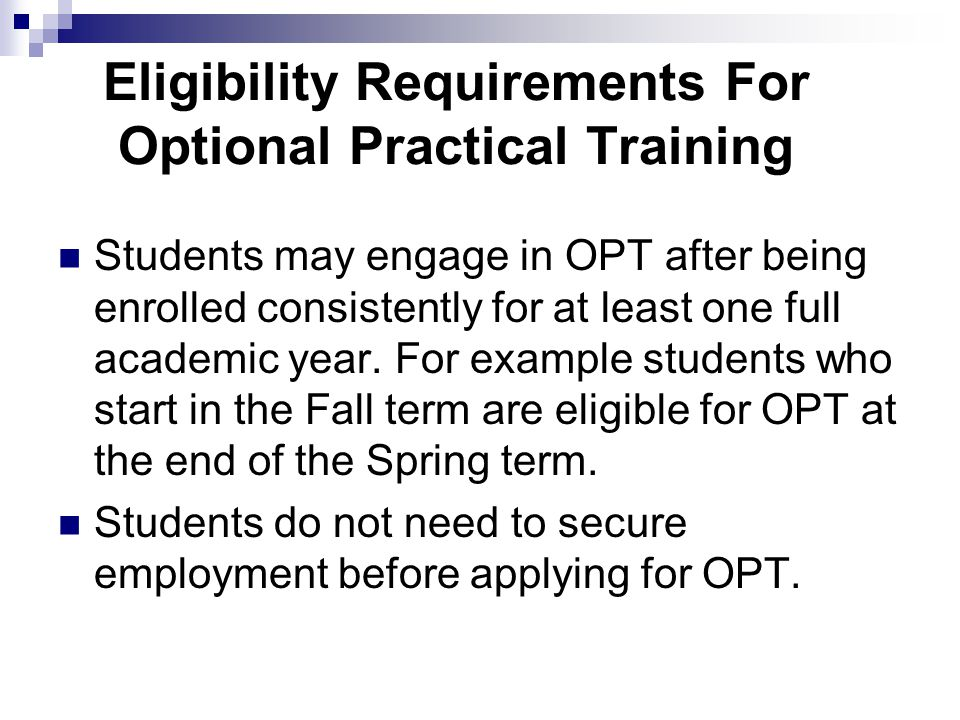 OPT problems: Mailing incomplete application packets Applying for post completion OPT and then do not complete the degree program by the specified completion date on the I-20 and do not request a program extension.