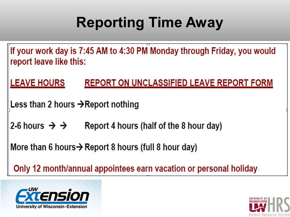 Reporting Time Away 12