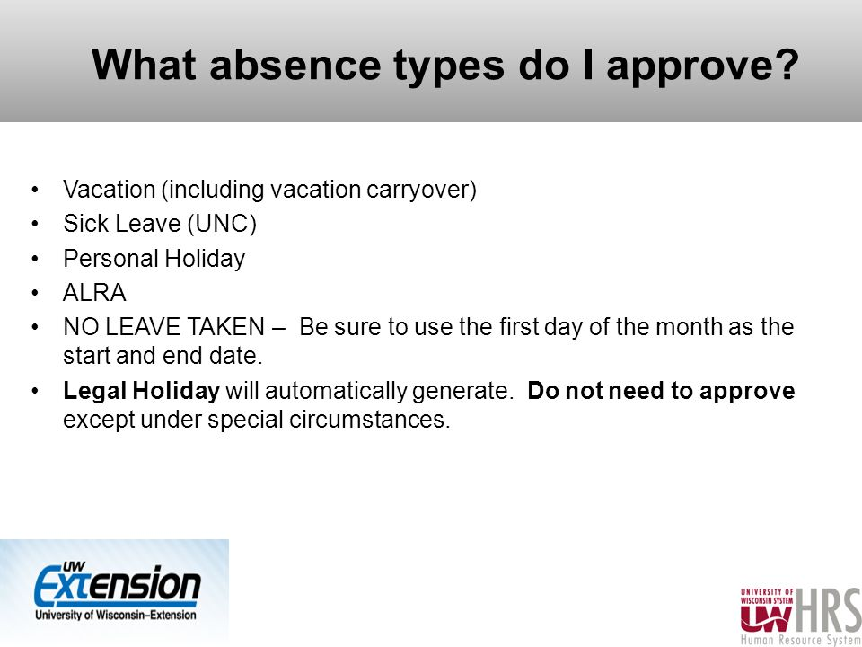 What absence types do I approve.