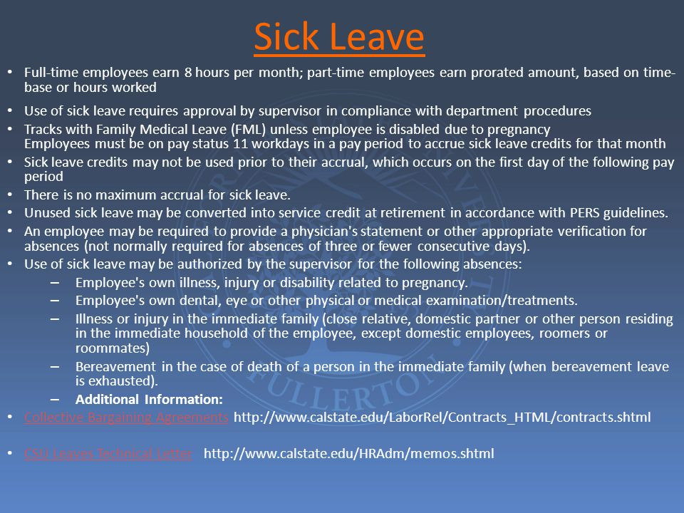 CSU FAMILY MEDICAL LEAVE Family Medical Leave Act – 29 United States Code, Sections 2601 et seq.