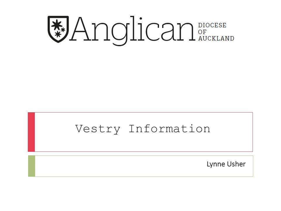 Vestry Information Lynne Usher