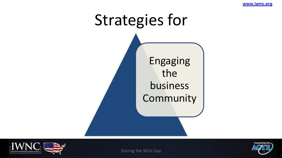 www.iwnc.org Strategies for Engaging the business Community Solving the Skills Gap1