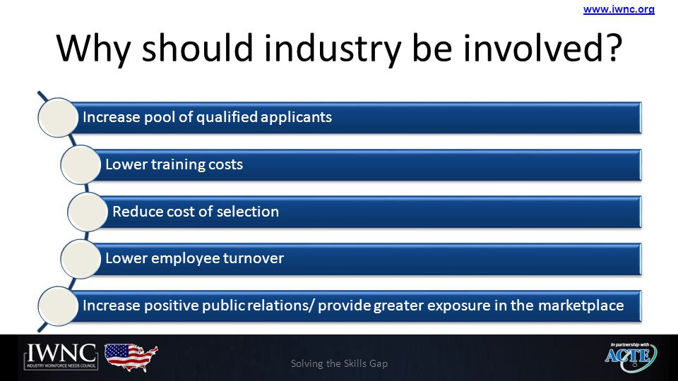 www.iwnc.org Why should industry be involved.