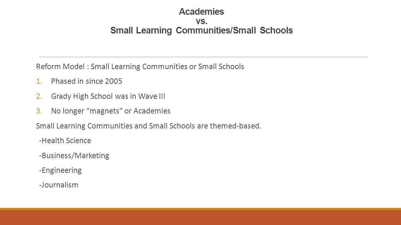 Academies vs.