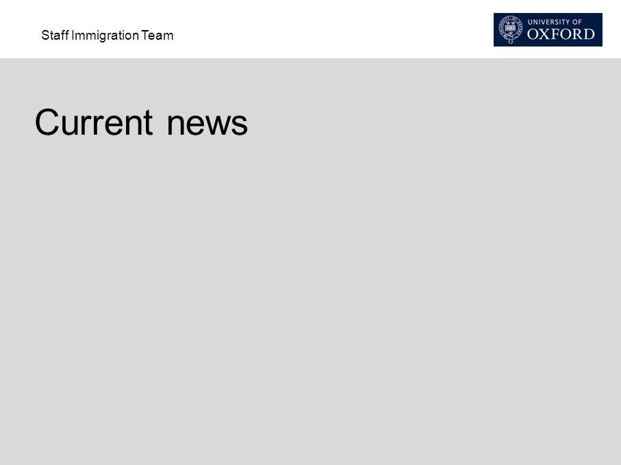Staff Immigration Team Current news