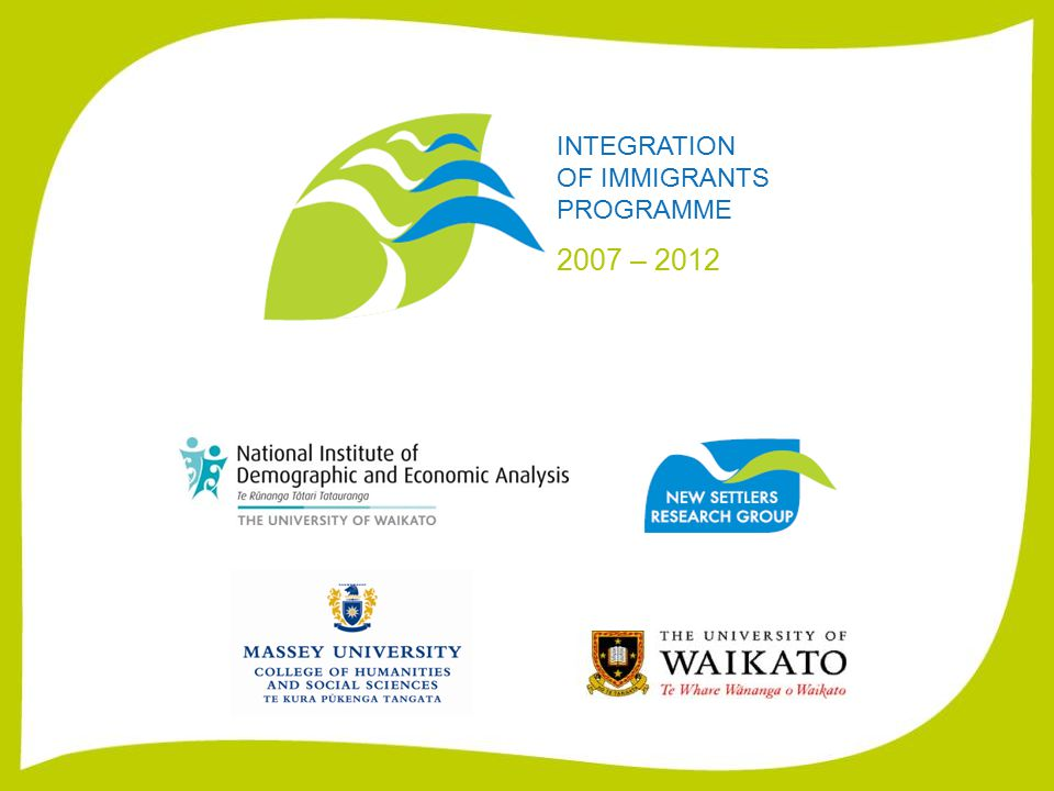 INTEGRATION OF IMMIGRANTS PROGRAMME 2007 – 2012