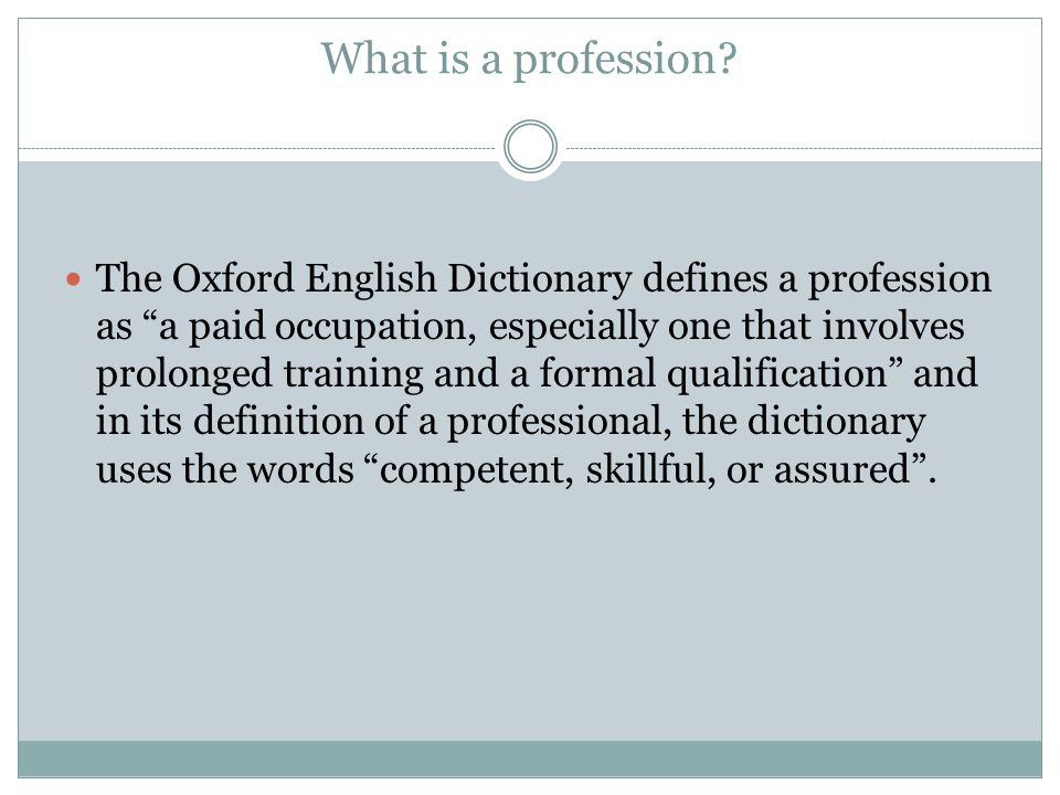 What defines a true teaching professional.