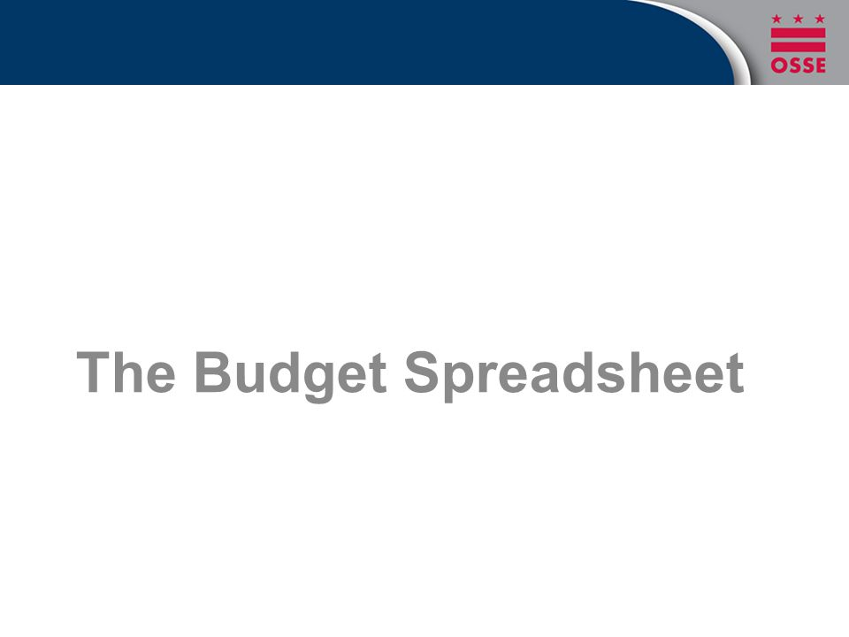 The Budget Spreadsheet