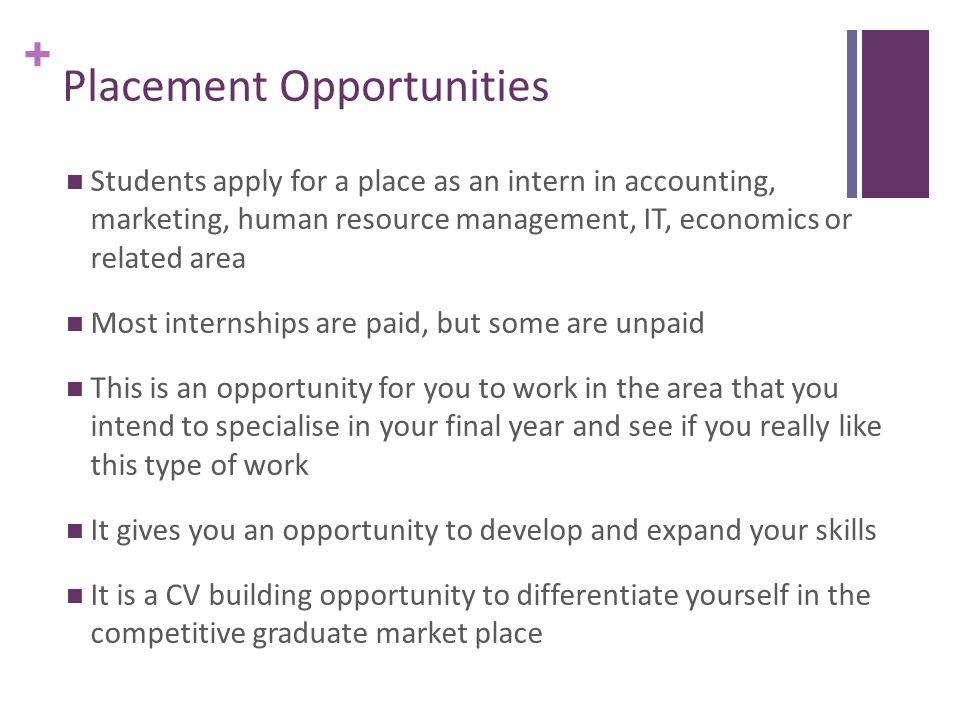 + Placement Opportunities – Host Companies J.E. Cairnes School of Business & Economics