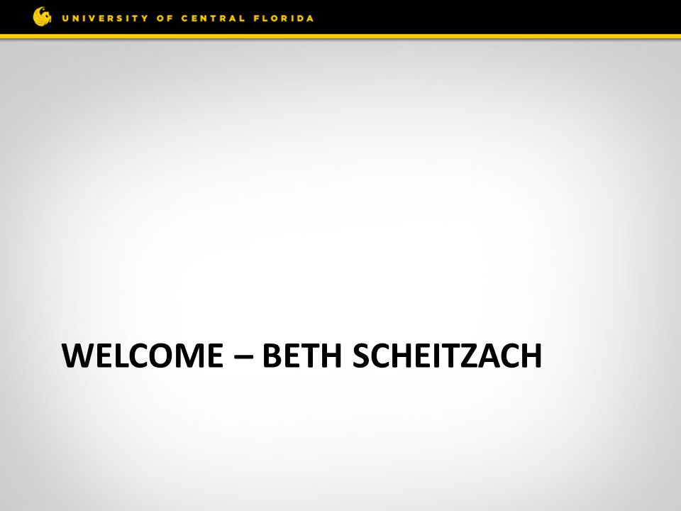 WELCOME – BETH SCHEITZACH