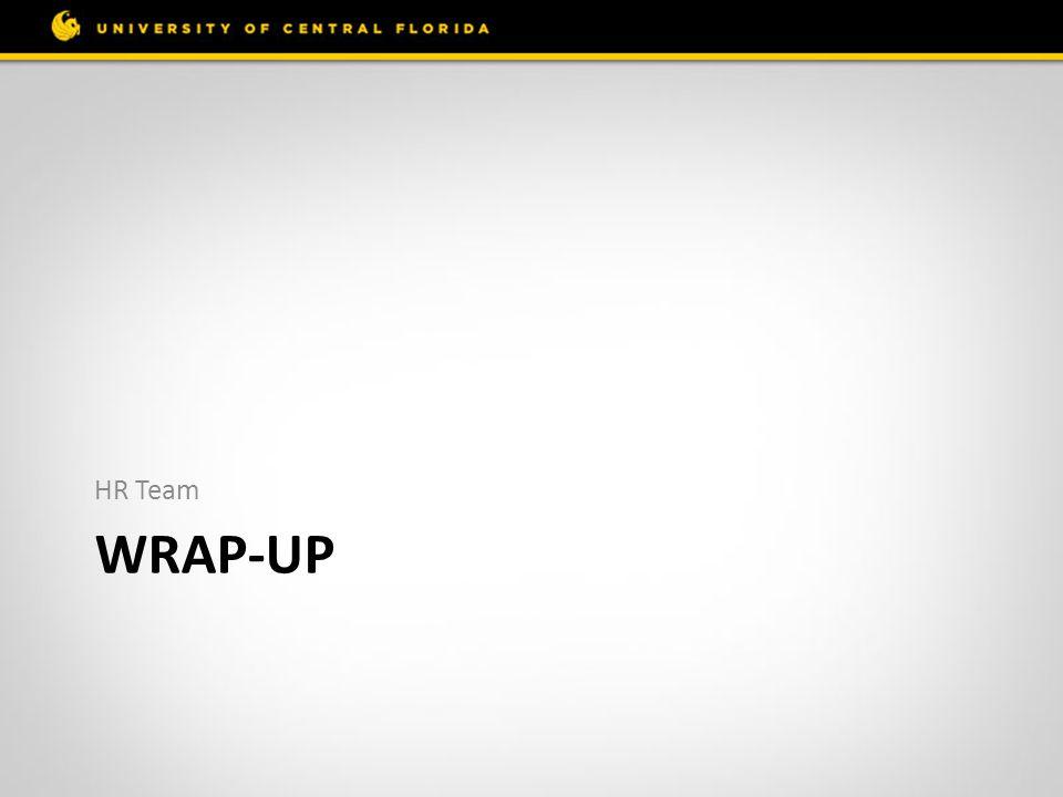 WRAP-UP HR Team