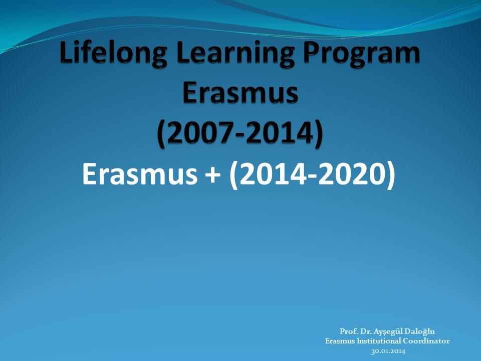Erasmus + (2014-2020) Prof. Dr. Ayşegül Daloğlu Erasmus Institutional Coordinator 30.01.2014