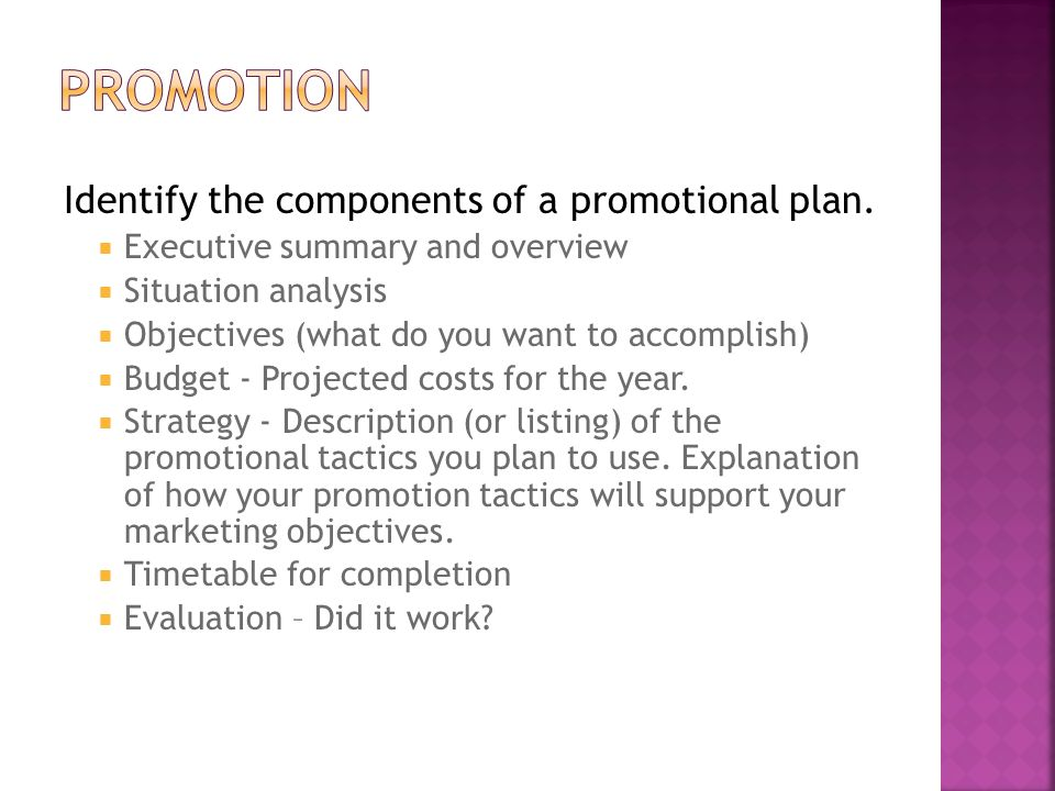 4 Forms of Promotion 1.